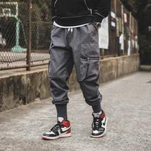 Joggers-Pants Overalls Big-Pockets Male Men High-Fashion Autumn Ankle Plus-Size