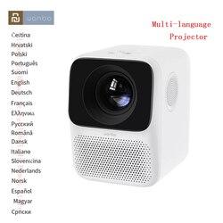 # Глобальная версия # Wanbo T2 Бесплатный светодиодный ЖК-проектор Поддержка 1080P Вертикальная коррекция keystone портативный мини проектор для дома...