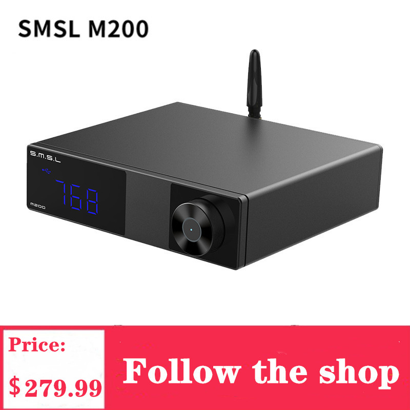 SMSL M200 Audio Decoder Wireless High-res Bluetooth 5.0 <font><b>DAC</b></font> AK4497EQ Support LDAC <font><b>32</b></font>-bit <font><b>768</b></font> KHz DSD512 Digital <font><b>Usb</b></font> Decoder image