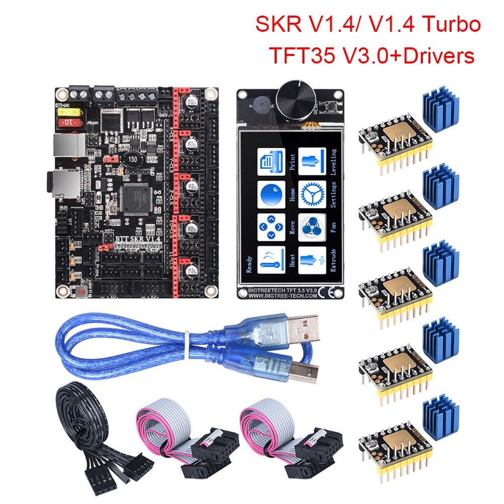 BIGTREETECH BTT SKR V1.4 SKR V1.4 Turbo Motherboard TFT35 V3.0 Touch Screen Upgrade SKR V1.3 TMC2209 TMC2208 UART Motor Driver