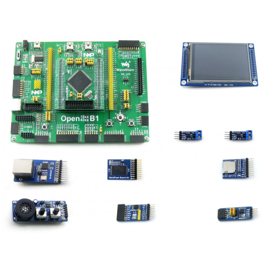 Open4337-C Package B # LPC ARM Cortex M4 M0 Dual-core LPC4337JBD144 Development Board + 3.2inch Touch LCD + 10 Modules