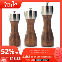 Premium Beech Pepper Mill   Salt and Pepper Grinder   Precision Carbon Steel Rotor Use for peppercorn, sea salt, black pepper