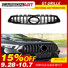 CLA W117 GT style Grille for Mercedes Front Grill Class C117 CLA200 220 CLA260 300 2013-2015
