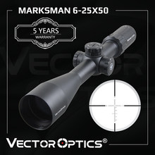 Vector Optics Marksman 6-25x50 Riflescope Optical Rifle Scope For Hunting & Tactical Target Shooting Fits Real Firearms & Airgun