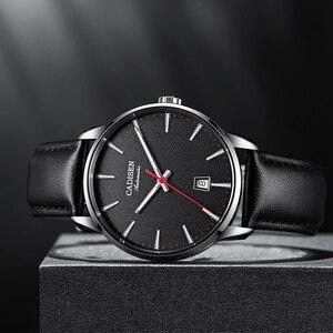 Image 2 - Cadisen 남자 시계 럭셔리 브랜드 일본 nh35a 사파이어 시계 남자 방수 캐주얼 비즈니스 가죽 손목 시계 relogio 8173