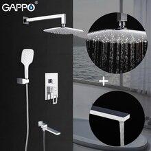 GAPPO Sistema de ducha montado en la pared, conjunto de ducha de lluvia, cascada, grifo de baño blanco