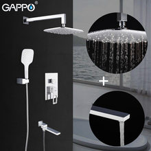 GAPPO duş sistemi duvara monte beyaz banyo musluk mikser yağış duş seti şelale torneira yapmak chuveiro banyo
