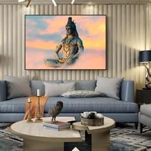 Lord Shiva tela pittura dei indù poster e stampe induismo immagine di arte della parete per soggiorno decorazione domestica Cuadros
