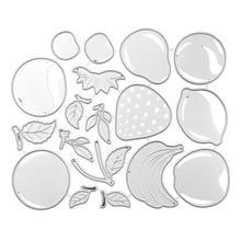 Frutas de corte de metal morre estêncil scrapbooking álbum diy carimbo cartão de papel emboss