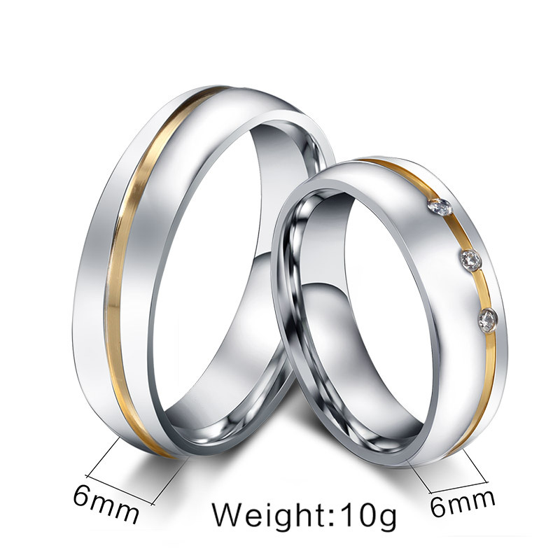 Men Ring Fashion Zircon Rings For Women Party Wedding Silver Rings For Lovers Engagement Luxury Couples Ring Jewelry Accessories