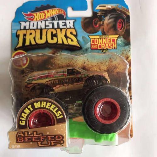 1: 64 оригинальные горячие колеса гигантские колеса Crazy Barbarism Монстр металлическая модель грузовика игрушки Hotwheels большая ножная машина детский подарок на день рождения - Цвет: 16