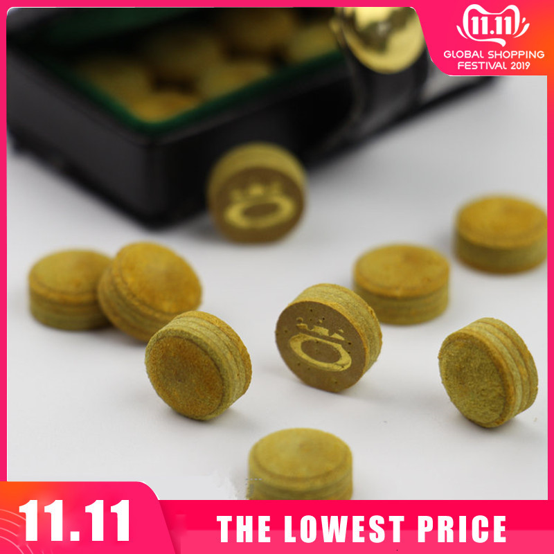 New 10/11mm Billiard Pool Cue Tips M Hardness Billiard Snooker Cue Stick Tip Billiard Cue Accessories