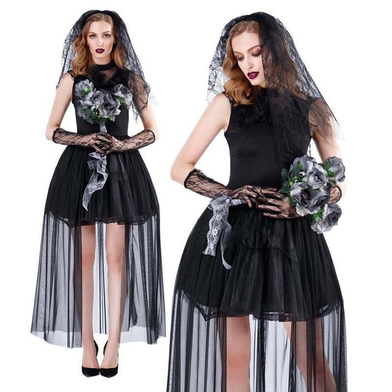 Demon Maiden Ladies Hooded Dress For Halloween Fancy Dress Party