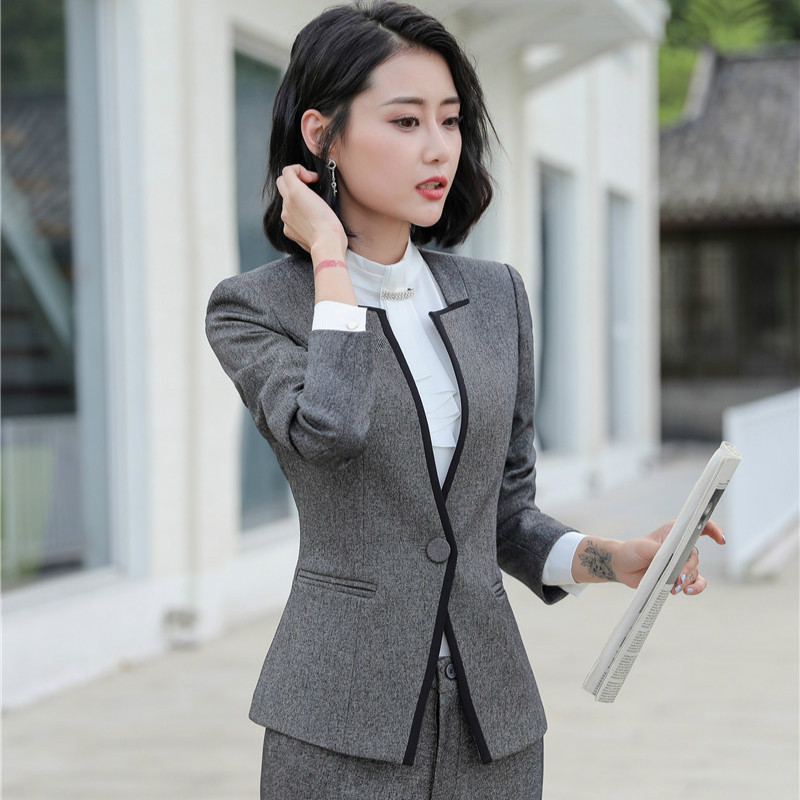 Female Elegant Formal Office Work Wear Women Blazer Jackets Ladies Business Outerwear Clothes Black OL Styles Jackets and Coats