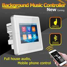 In Wall Amplifier Bluetooth Audio Music Center Sound Hotel Bathroom Smart Home Touch Screen Mini Amplifier Fm for Hotel Bathroom