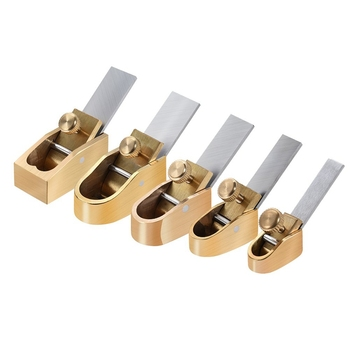 5 Piece Woodworking Plane Cutter Set Curved Sole Metal Copper Luthier Tool Violin Viola Cello Wooden Instrument