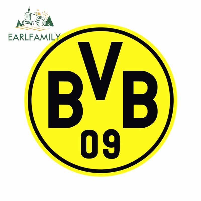 EARLFAMILY 13cm X 13cm For Borussia Dortmund #1 UEFA Die Cut Vinyl Sticker Car Bumper Window Car Sticker