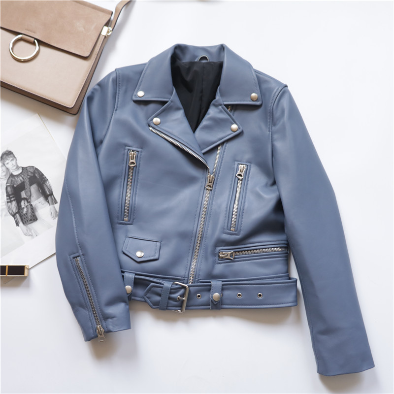Leather Genuine Jacket Spring Autumn Jacket Women Clothes 2020 Real Sheepskin Coat Female Streetwear Bomber Jackets MY S