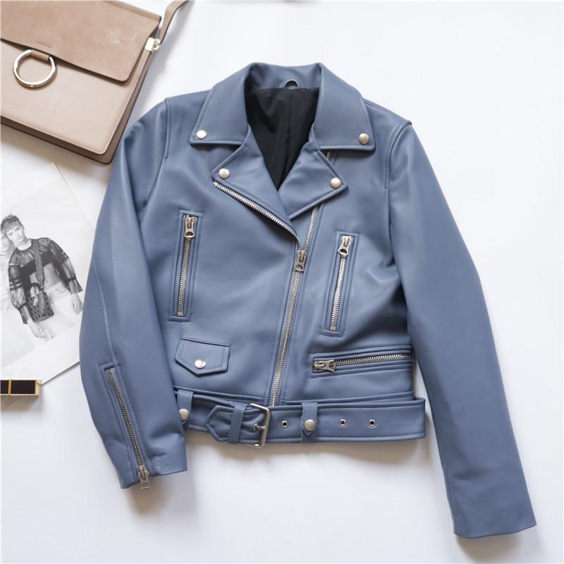 Leather Genuine Jacket Spring Autumn Jacket Women Clothes 2020 Real Sheepskin Coat Female Streetwear Bomber Jackets MY S