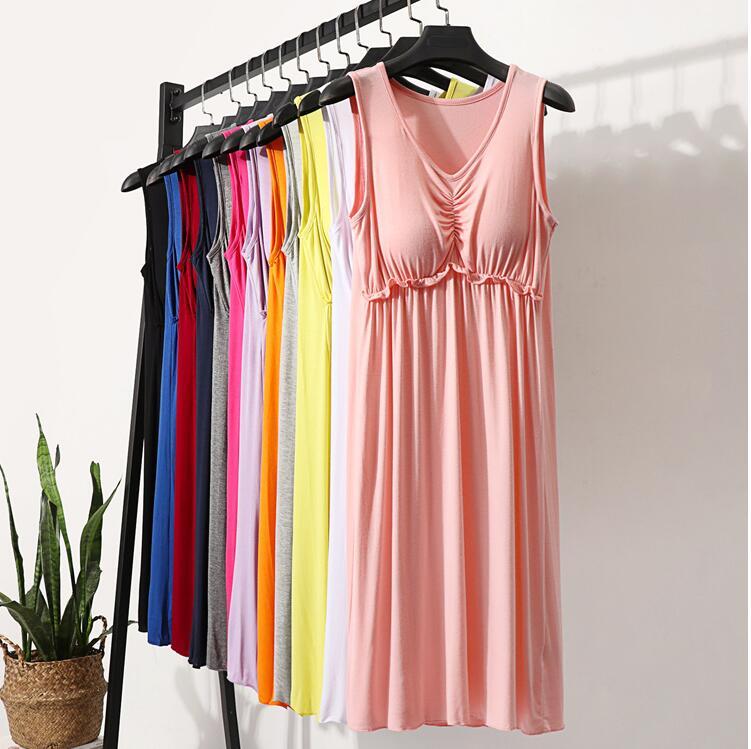 Женский повседневный летний Однотонный сарафан без рукавов, модель 2020 года, домашняя одежда, дешево
