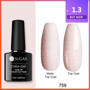 UR SUGAR 7.5ml Autumn Gel Nail Polish 1 Bottle Nail Gel Glitter Series Black Blue Color Nail Art Soak Off Semi-permanant Gel