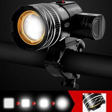 Bike light LED USB Line Rear Light T6 15000LM Rechargeable Battery Zoomable Front Bicycle Headlight Lamp LED turn Signal light rechargeable 12000mah battery 60000lm 16x xml t6 led 3modes bicycle light led bike front light headlight lamp bike accessories