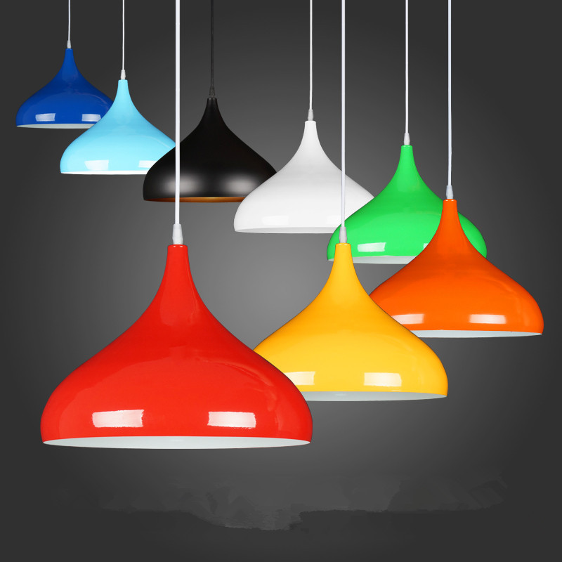 Modern Pendant Lights Nordic Living Room Lamp Colorful Aluminum Light Fixture For Cafe Restaurant Hanglamp Kitchen Hanging Lamps