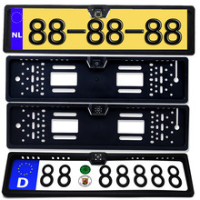 Car Rear View Camera EU European License Plate Frame Waterproof Night Vision Reverse Backup with 4 Or 8 12 LED Light