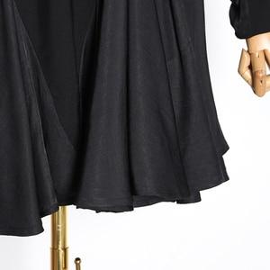 Image 5 - Twotwinstyle vestido feminino babado, patchwork vestidos femininos gola redonda manga comprida cintura alta ruched moda feminina 2020 roupa de maré