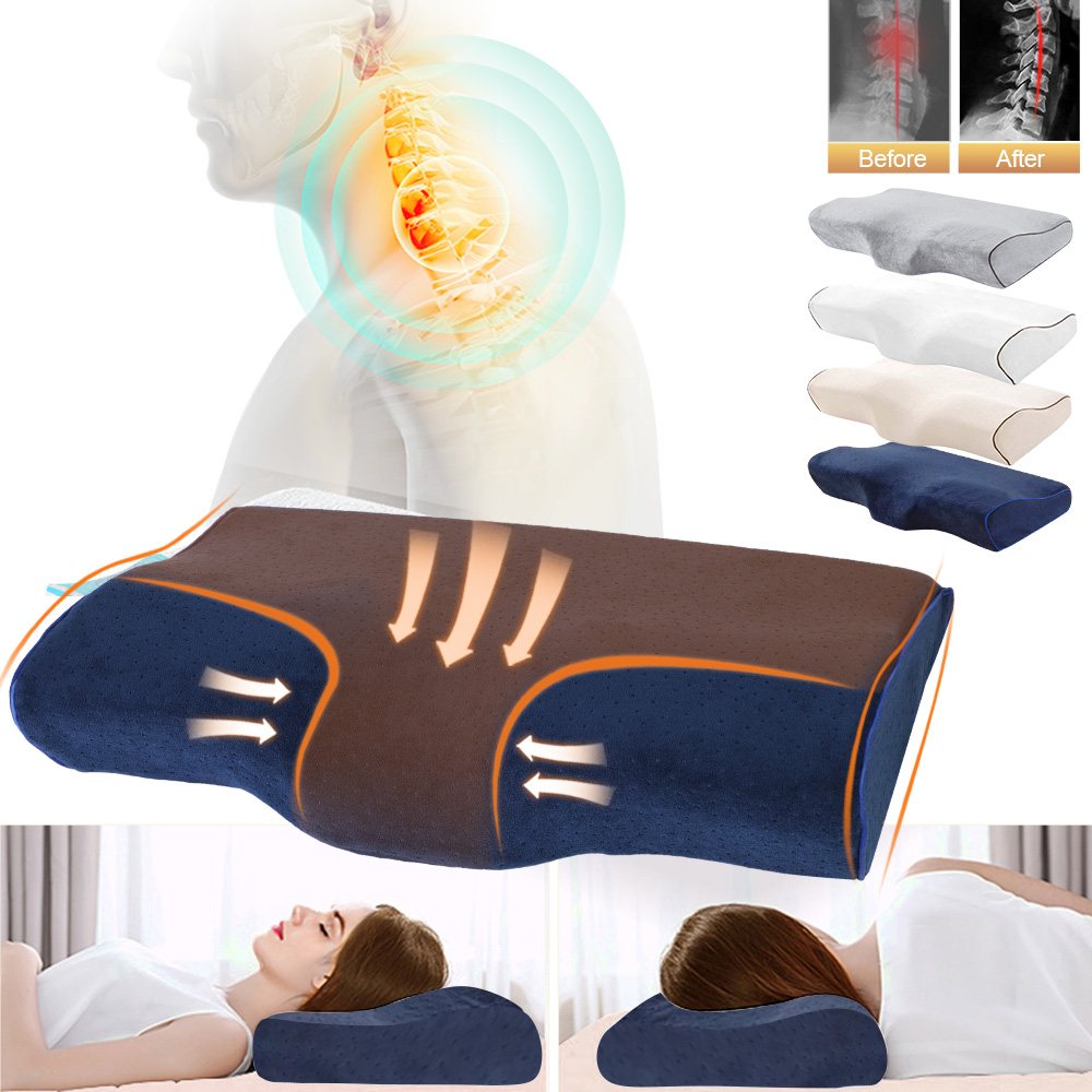 Butterfly Shaped Anti Snore Pillow Made Of Memory Foam For Sleeping Neck Relief Pain