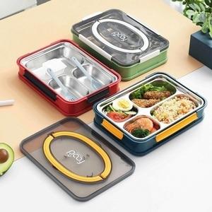 2020 Новая Универсальная квадратная коробка 3/4 коробка для завтрака, легко переносится Студенческая коробка для завтрака для работы Коробка ...