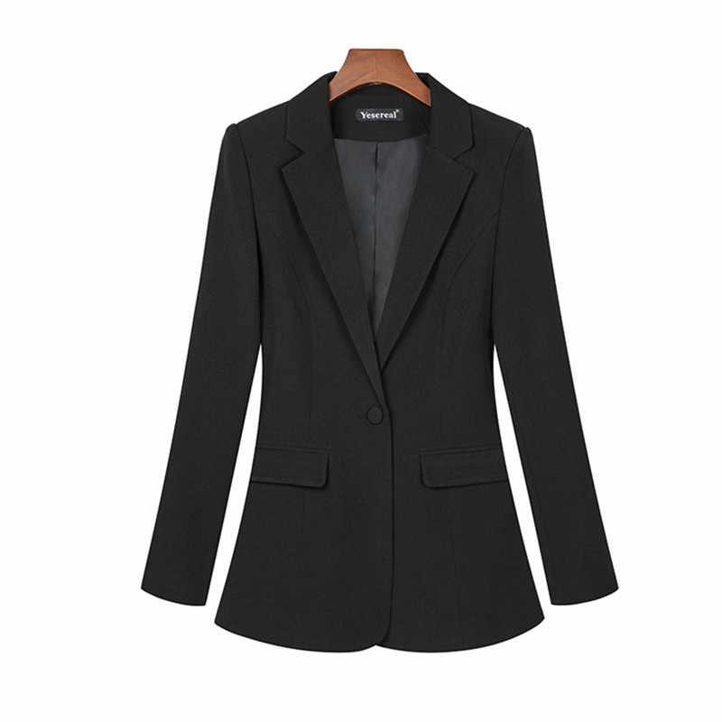 אביב סתיו פס נשים חליפת מעיל נשי עבודת משרד ליידי חליפות Slim כפתור אחד עסקים בלייזר מעיל חולצות בתוספת גודל 6XL 7XL