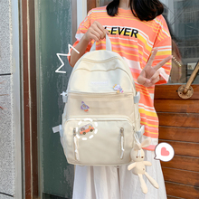 New Waterproof Nylon Women Backpack Fashion Female Student Schoolbags with Vertical Zippers Large Capacity Backpack Book Bags