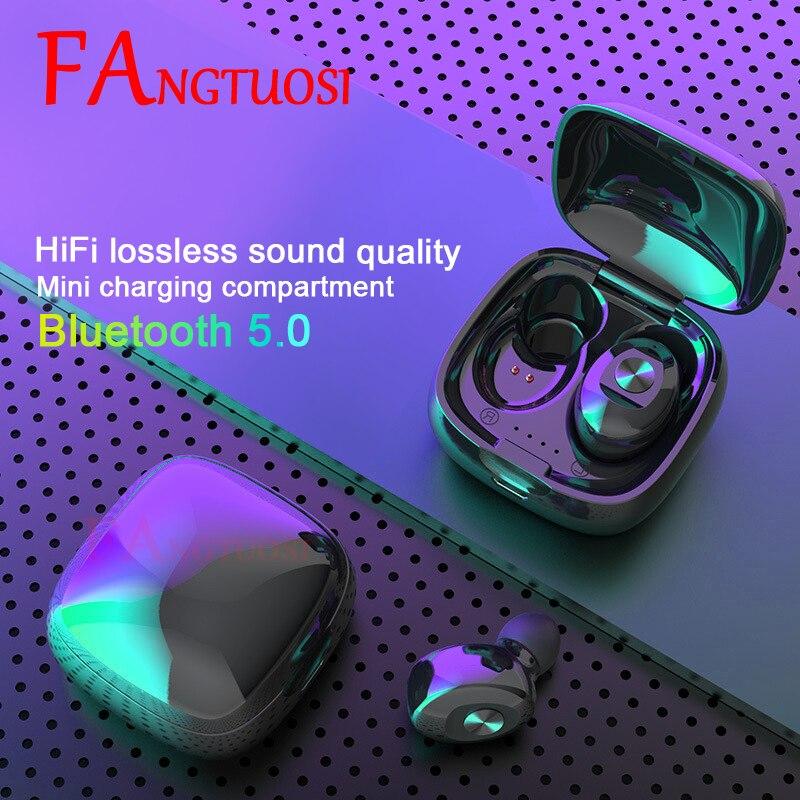 FANGTUOSI TWS беспроводные Bluetooth наушники стерео HIFI Звук спортивные наушники Earbus с микрофоном гарнитура для IOS/Android