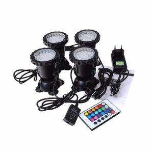 Image 4 - RGB havuz ışıkları su geçirmez akvaryum LED Spot ışık balık tankı gölet bahçe dekorasyon lambası uzaktan kumanda ile abd/ab /İngiltere/SAA tak