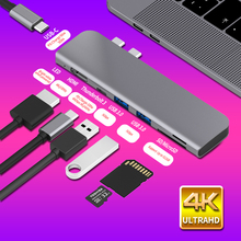 USB 3.1 type c Hub na HDMI Adapter 4K Thunderbolt 3 USB C Hub z koncentratorem 3.0 TF czytnik kart SD PD dla MacBook Pro/Air 2018   2020
