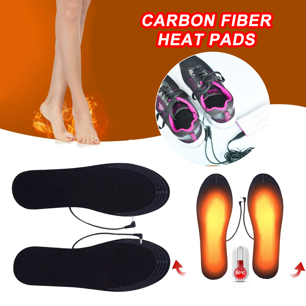 DIY Cuttable Heated Shoes Insoles USB Electric Winter Feet Warmer Free Size Sock Heater Pad Insoles For Men Women Boy Girl 3
