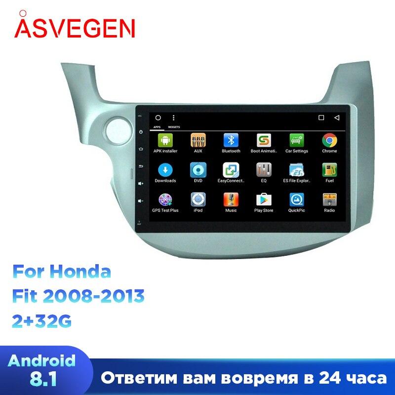 Android 8,1 10,1 Автомобильный мультимедийный плеер для Honda Old Fit четырехъядерный автомобильный Радио GPS Navigatio стерео головное устройство видео пле