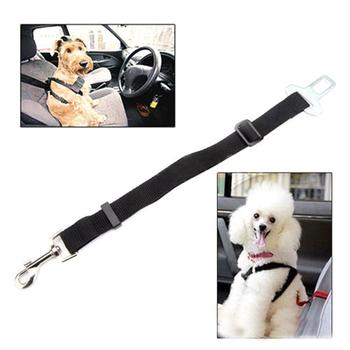 Adjustable Dogs Car Seat Belt Harness Puppy Cats Car Safety Seat-belt Lead Traction Rope Pets Supplies image