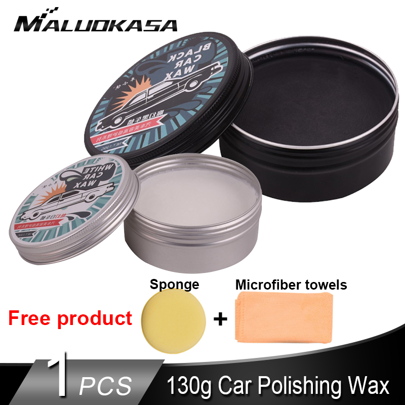 130g Waterproof Protect Car Paint Crystal Car Wax Paint Scratch Repair Car Maintenance Polishing Wax With Sponge And Towel