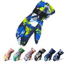 Зимние теплые лыжные перчатки для мужчин, женщин и детей, флисовые перчатки для катания на сноуборде с сенсорным экраном, уличные водонепроницаемые перчатки для катания на мотоцикле и лыжах