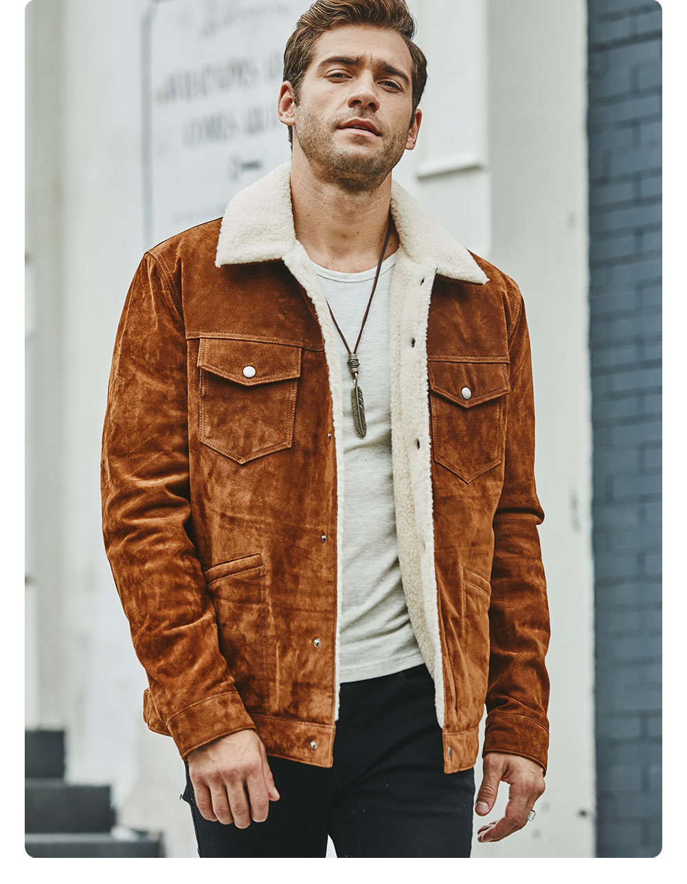 Ha3ea4fc770464141a65e27726d3afa32j FLAVOR New Men's Real Leather Jacket Genuine Leather With Faux Shearling Warm Coat Men