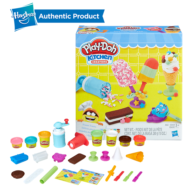 Hasbro Play-Doh Kitchen Creations Frozen Treats Toy Ice Cream Maker Fun Factory Arts And Crafts  Play Doh Case Of Colors