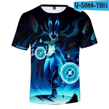 3D Pokemon Pikachu Cute Harajuku Stylish Cool Summer Short-sleeved Adult T-shirt 2019 New Unisex Trend Casual Tee