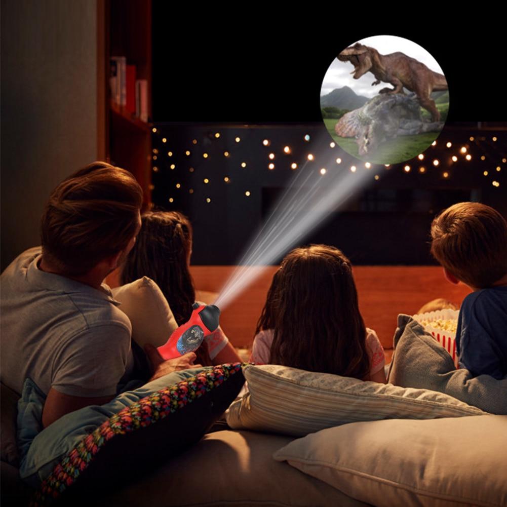 Enfants jouet bébé dormir LED dinosaure projecteur modèle torche projecteur lampe de poche lumière rotative jouets éducatifs pour les enfants