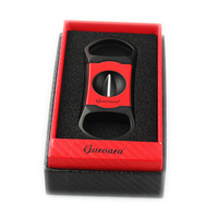 Guevara 2 color Cigar Cutter V Cut Stainless Steel Guillotine Cut Blade Scissors with Gift box