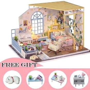 Casa Doll House Furniture Miniature Dollhouse DIY Miniature House Room Box Theatre Toys for Children Casa Dollhouse S02A фото