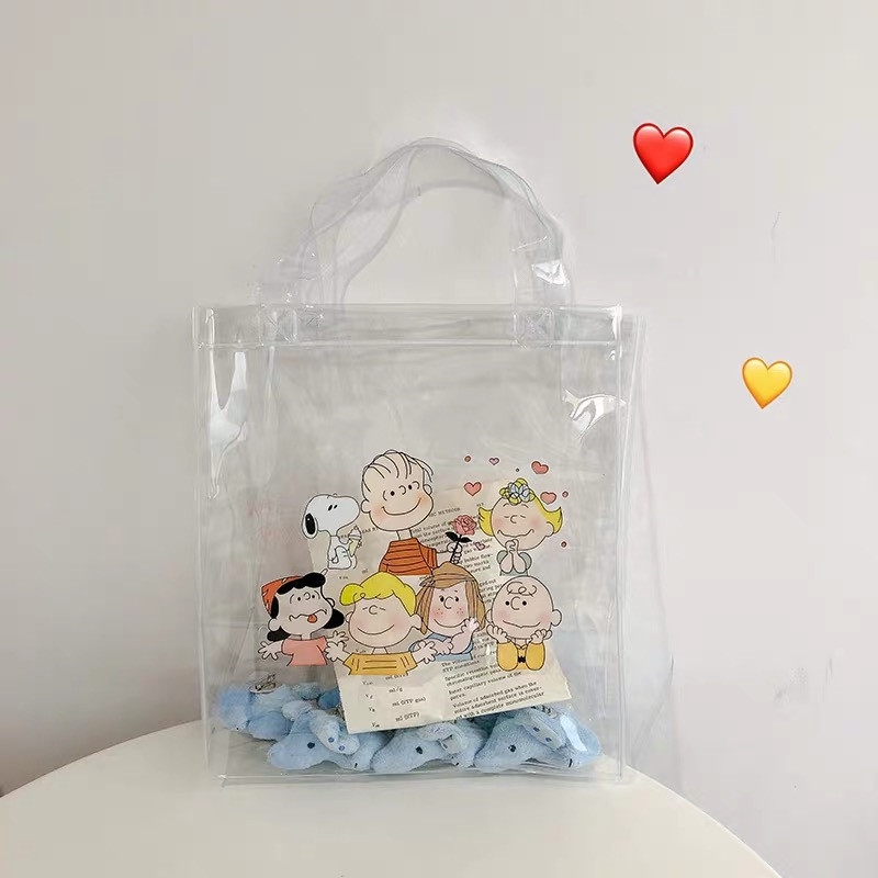 Cheng Pin Ins Rogue Dog Colorful Pattern Popular Fashion Beach Bags Pencil Bag Waterproof Totes Handbag Document Bag 2