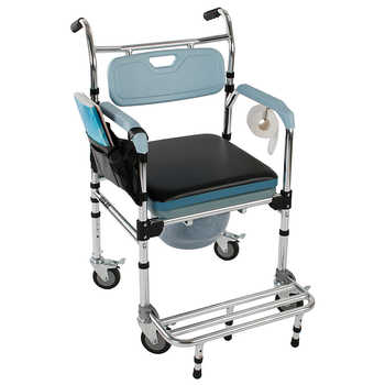 4 in 1 Tub Shower Chair Multifunctional Aluminum Elder People Disabled People Pregnant Women Commode Chair Bath Chair - DISCOUNT ITEM  20 OFF Furniture