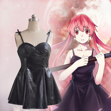 Anime The Future Diary Cosplay Costumes Yuno Gasai Cosplay Costume Halloween Party Game Women Mirai Nikki Cosplay Dresses anime future diary amano yukiteru mirai nikki cosplay costume full set